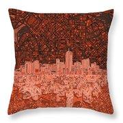 Denver Skyline Abstract 6 Throw Pillow