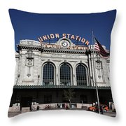 Denver - Union Station Throw Pillow