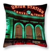 Denver's Union Station Throw Pillow