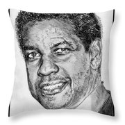 Denzel Washington In 2009 Throw Pillow by J McCombie