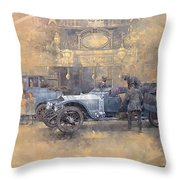 Departure For Christmas Oil On Canvas Throw Pillow