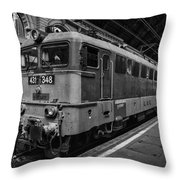 Departure From Budapest Throw Pillow