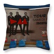 Depech Mode Tour Throw Pillow