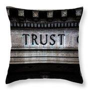 Depositors Trust Company Throw Pillow