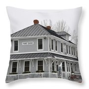 Depot Lodge Throw Pillow