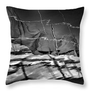 Depth In Black Throw Pillow