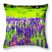 Depth Of Color Throw Pillow