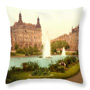 Der Deutsche Ring-cologne-the Rhine-germany -  Between 1890 And  Throw Pillow