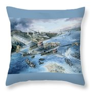 Derailing The Tokyo Express Throw Pillow by Randy Green