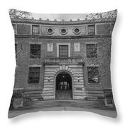 Derby Hall Black And White  Throw Pillow