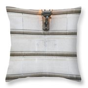 Derby Hall Sign And Light  Throw Pillow