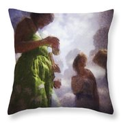 Derby People 1 Water Color 1 Throw Pillow