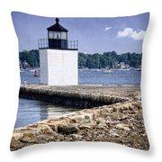Derby Wharf Light Throw Pillow