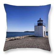 Derby Wharf Lighthouse Throw Pillow