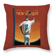 Derek Jeter Bows Throw Pillow