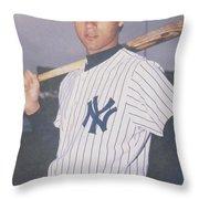 Derek Jeter New York Yankees Throw Pillow