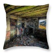 Derelict Cottage Throw Pillow by Adrian Evans