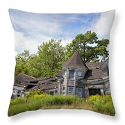 Derelict House Throw Pillow