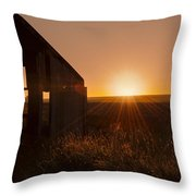 Derelict Shed Throw Pillow