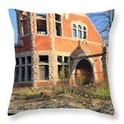 Derelict Station Throw Pillow