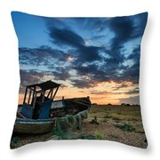 Derelict Sunset Throw Pillow by Matthew Gibson