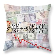 Derivatives Financial Debacle - Black Scholes Equation Throw Pillow