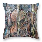 Derniere Chanson Throw Pillow by Chaline Ouellet