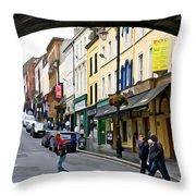 Derry Life - Irish Art By Charlie Brock Throw Pillow