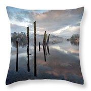Derwentwater At Dawn Throw Pillow