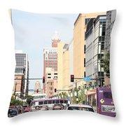 Des Moines Iowa 13th Street Throw Pillow