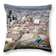 Des Moines Iowa Skyline Throw Pillow