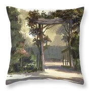Descanso Gardens Throw Pillow by Michael Humphries