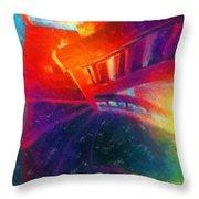 Descending The Stardust Stairway Throw Pillow