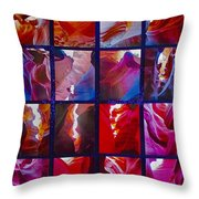 Descent Into Heaven Assemblage In Lower Antelope Canyon In Lake Powell Navajo Tribal Park In Page-az Throw Pillow
