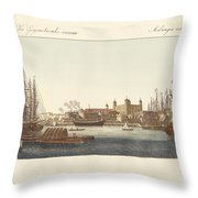 Description Of The Tower Of London Throw Pillow