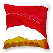 Desert Arch Original Painting Sold Throw Pillow