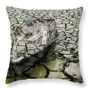 Desert Boat Throw Pillow