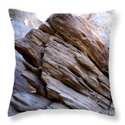 Desert Boulder Throw Pillow