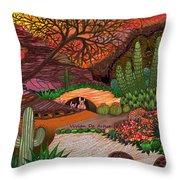 Desert Evening Throw Pillow