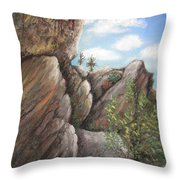 Desert Fortress Throw Pillow