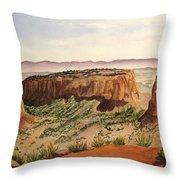 Desert Haze Throw Pillow
