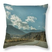 Desert Highway Throw Pillow