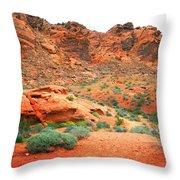 Desert Hiking Among The Sandstones Throw Pillow