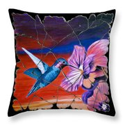 Desert Hummingbird Throw Pillow