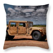 Desert Humvee Throw Pillow