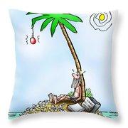 Desert Island Christmas Throw Pillow