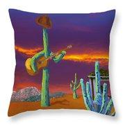 Desert Jam Throw Pillow