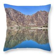 Desert Lake Stillness Throw Pillow