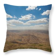 Desert Landscape By The Tannur Dam Throw Pillow