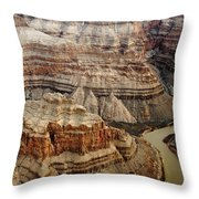 Desert Layers Throw Pillow